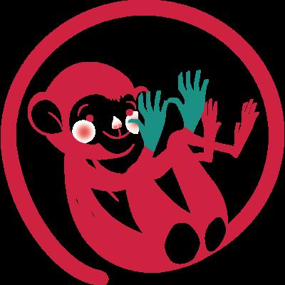 Logo mekello - scimmia