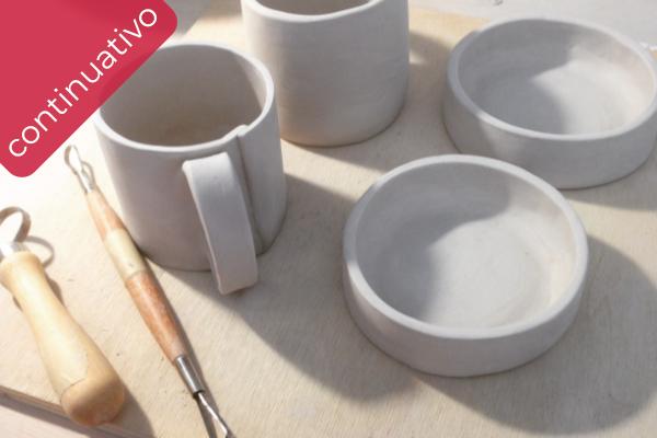 corso di ceramica a Vicenza lavorazione a sfoglia